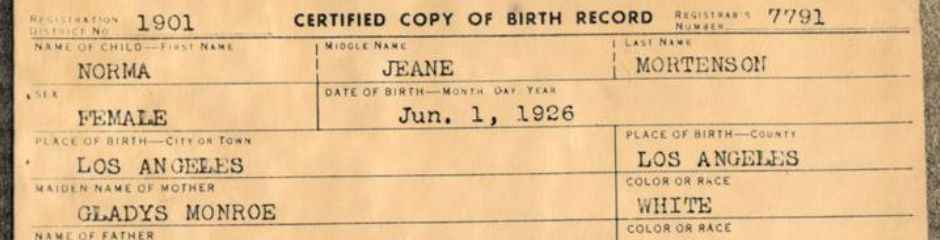 New york public birth records search searching in ny marilyn monroe birth certificate yadclub Image collections